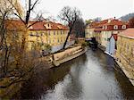 Canal on the Lesser Side, Prague, Czech Republic    Stock Photo - Premium Rights-Managed, Artist: David Zimmerman, Code: 700-00343234