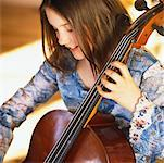 Girl Playing Cello    Stock Photo - Premium Rights-Managed, Artist: Marnie Burkhart, Code: 700-00350032