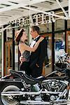 Couple Outside Theatre    Stock Photo - Premium Rights-Managed, Artist: George Shelley, Code: 700-00350236