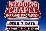 Wedding Chapel Las Vegas, Nevada, USA