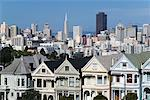 Victorian Houses on Steiner Street, San Francisco California, USA    Stock Photo - Premium Rights-Managed, Artist: Jeremy Woodhouse, Code: 700-00350367