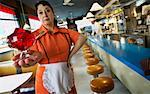Waitress Holding Dessert in Diner