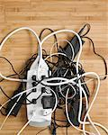 Tangled Power Cords    Stock Photo - Premium Rights-Managed, Artist: Keate, Code: 700-00357375