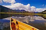 Canoe and Vermillion Lakes, Banff National Park, Alberta, Canada    Stock Photo - Premium Rights-Managed, Artist: J. A. Kraulis, Code: 700-00361475