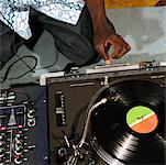 DJ and Turntable    Stock Photo - Premium Rights-Managed, Artist: Tom Feiler, Code: 700-00361689