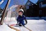Father and Child Playing Hockey    Stock Photo - Premium Rights-Managed, Artist: Curtis R. Lantinga, Code: 700-00361757