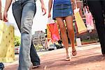 Teenagers with Shopping Bags