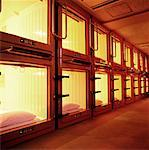 Capsule Hotel Asakusa District, Tokyo, Japan    Stock Photo - Premium Rights-Managed, Artist: Michael Clement, Code: 700-00363873