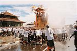 Pall Bearers Carrying Cremation Tower Ubud, Bali, Indonesia    Stock Photo - Premium Rights-Managed, Artist: Carl Valiquet, Code: 700-00364296