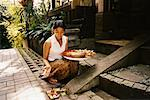 Woman with Offerings Ubud, Bali, Indonesia    Stock Photo - Premium Rights-Managed, Artist: Carl Valiquet, Code: 700-00364305