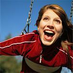 Woman on Swing    Stock Photo - Premium Rights-Managed, Artist: Jeremy Maude, Code: 700-00367447