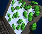 Computer Bugs    Stock Photo - Premium Rights-Managed, Artist: Guy Grenier, Code: 700-00367648