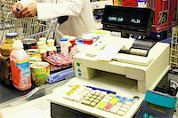 Supermarket checkout Stock Photo - Premium Royalty-Freenull, Code: 614-00397643