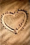Heart shape on sand Stock Photo - Premium Royalty-Free, Artist: IS2                           , Code: 614-00398214