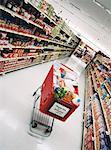 Shopping Cart in Grocery Store    Stock Photo - Premium Rights-Managed, Artist: Steve Craft, Code: 700-00404117