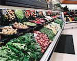 Vegetable Section in Grocery Store    Stock Photo - Premium Rights-Managed, Artist: Steve Craft, Code: 700-00404125