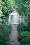 Path and Gate in Garden    Stock Photo - Premium Rights-Managed, Artist: Alison Barnes Martin, Code: 700-00404163