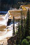Louise Falls, Hay River, Twin Falls Territorial Gorge Park, Northwest Territories, Canada    Stock Photo - Premium Rights-Managed, Artist: J. A. Kraulis, Code: 700-00424100
