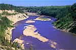 Hay River, Twin Falls Gorge Territorial Park, Northwest Territories, Canada    Stock Photo - Premium Rights-Managed, Artist: J. A. Kraulis, Code: 700-00424101