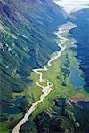 Glacial Meltwater River, Atlin Provincial Park, British Columbia, Canada
