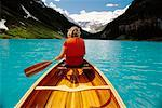 Canoeing, Lake Louise, Banff National Park, Alberta, Canada    Stock Photo - Premium Rights-Managed, Artist: J. A. Kraulis, Code: 700-00424195