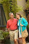 Couple Walking Down the Street    Stock Photo - Premium Rights-Managed, Artist: Marc Vaughn, Code: 700-00424847