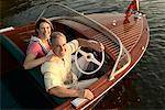 Couple Posing in Boat
