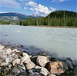 Athabasca River, Jasper National Park, Alberta, Canada    Stock Photo - Premium Rights-Managed, Artist: Alberto Biscaro, Code: 700-00425213