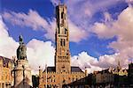Belfort Tower, Grote Markt, Brugge, Belgium    Stock Photo - Premium Rights-Managed, Artist: Bryan Reinhart, Code: 700-00425270