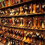 Rows of Cowboy Boots    Stock Photo - Premium Rights-Managed, Artist: Alberto Biscaro, Code: 700-00425556
