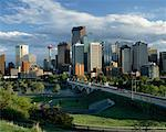 Calgary Skyline at Dusk, Calgary, Alberta, Canada    Stock Photo - Premium Rights-Managed, Artist: Larry Fisher, Code: 700-00426320