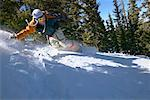 Man Snowboarding    Stock Photo - Premium Rights-Managed, Artist: Peter Barrett, Code: 700-00429861