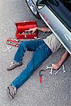 Mechanic at Work    Stock Photo - Premium Rights-Managed, Artist: Peter Christopher, Code: 700-00430286