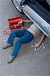 Mechanic at Work    Stock Photo - Premium Rights-Managed, Artist: Peter Christopher, Code: 700-00430287