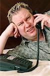 Man Talking on Phone    Stock Photo - Premium Rights-Managed, Artist: Dazzo, Code: 700-00439575