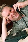 Man Talking on Phone    Stock Photo - Premium Rights-Managed, Artist: Dazzo, Code: 700-00439576