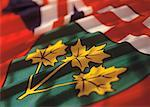 the flag of Ontario Stock Photo - Premium Royalty-Free, Artist: Zoran Milich, Code: 618-00444474