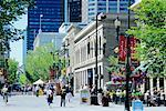 Stephen Avenue pedestrian mall, Calgary, Alberta, Canada