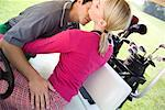 Couple Making Out in Golf Cart    Stock Photo - Premium Rights-Managed, Artist: Masterfile, Code: 700-00452979