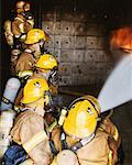 Firefighters in Practice Drill    Stock Photo - Premium Rights-Managed, Artist: Steve Craft, Code: 700-00453240
