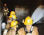 Firefighters in Practice Drill    Stock Photo - Premium Rights-Managed, Artist: Steve Craft, Code: 700-00453241