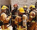 Firefighters Meeting    Stock Photo - Premium Rights-Managed, Artist: Steve Craft, Code: 700-00453248