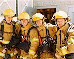 Group Portrait of Firefighters    Stock Photo - Premium Rights-Managed, Artist: Steve Craft, Code: 700-00453250