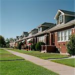 Row of Houses    Stock Photo - Premium Rights-Managed, Artist: David Papazian, Code: 700-00477579