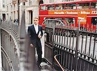 Businessman Descending Stairs to Subway, London, England    Stock Photo - Premium Rights-Managednull, Code: 700-00477745