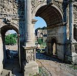 Arc of Settimio Severo, Rome, Italy    Stock Photo - Premium Rights-Managed, Artist: Alberto Biscaro, Code: 700-00477877