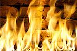 Flames and Brick Firewall    Stock Photo - Premium Rights-Managed, Artist: Boden/Ledingham, Code: 700-00478036
