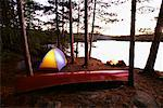 Campground, Pinetree Lake, Algonquin Provincial Park, Ontario, Canada
