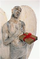 Angel With Present    Stock Photo - Premium Rights-Managednull, Code: 700-00478518