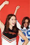 Cheerleader and Fan Cheering